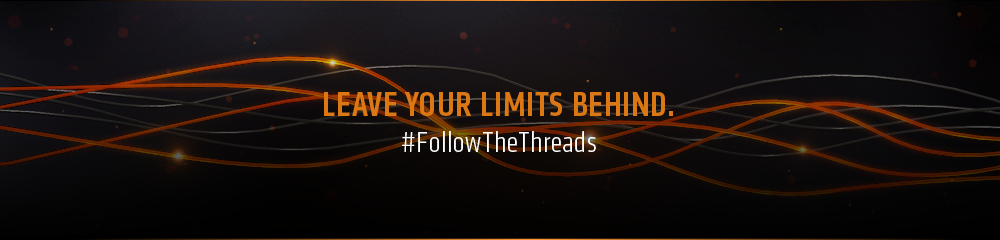 Leave your limits behind. #FollowTheThreads.
