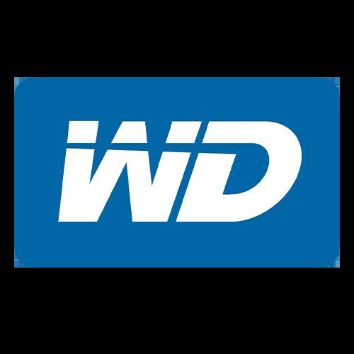 Western Digital logo blauw