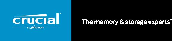 Crucial logo blue met tagline