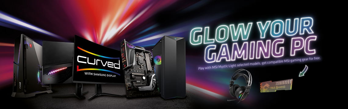 msi glow your gaming pc header