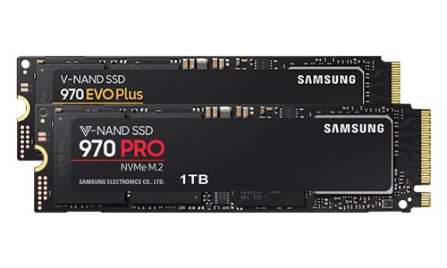 970 EVO Plus NVMe, 970 EVO NVMe en 970 PRO Nvme