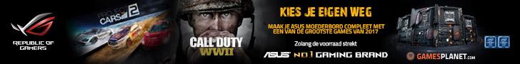 Gratis game Project Cars 2 of Call of Duty WWII bij aankoop geselecteerd moederbord X99 serie of Z170 serie