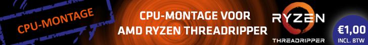 CPU-montage bij aankoop van een AMD Ryzen Threadripper-processor en een bijbehorend moederbord voor één Euro
