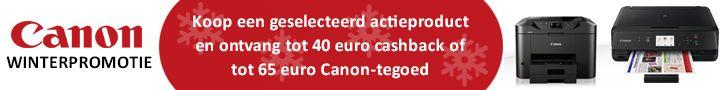Canon Winterpromotie cashback en Canontegoed