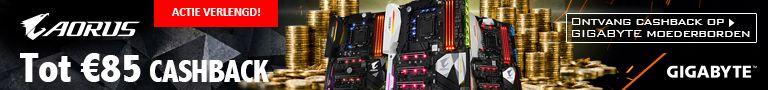 Cashback bij en geselecteerd moederbord en Intel Optane geheugen