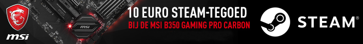 10 Euro Steam-tegoed MSI B350 Gaming Pro Carbon Moederbord banner