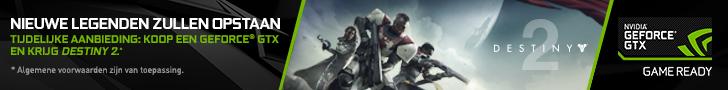 Destiny 2 bij aankoop van een Nvidia GeForce GTX 1080 of GTX 1080 Ti videokaart