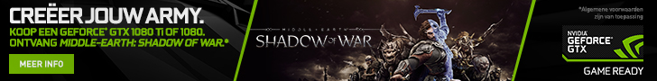 Gratis game Middle Earth: Shadow of War bij aankoop van een Nvidia GeForce GTX 1080 of 1080 Ti
