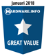 Award Hardware.info - Great Value
