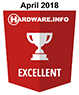 HWI Excellent Award - april 2018