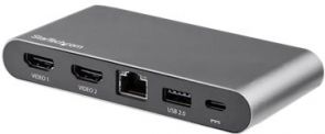 StarTech.com Dual-monitor USB-C 5-in-1 multiport adapter - 2x4K HDMI