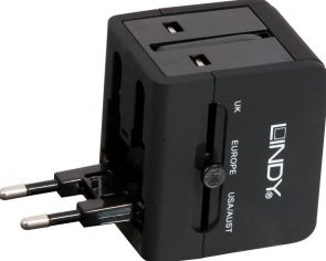 Lindy USB Mains Plug Travel Adapter - Reislader