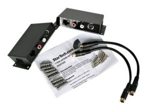 StarTech.com S-Video Verlenger via Cat5 met Audio - Video/audio-uitbreider