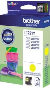 Brother LC221Y - Geel