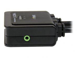 StarTech 2 poorts USB HDMI kabel KVM switch met audio en remote switch – met USB voeding KVM audioschakelaar