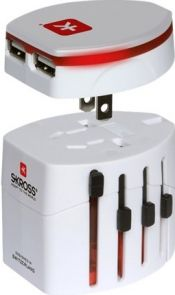SKROSS World Travel Adapter Evo USB - Adapterpakket voedingsconnector