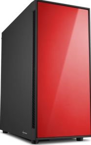 Sharkoon AM5 Silent Red - Midtowermodel ATX