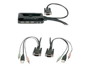 Lindy KVM Switch Compact VGA USB 2.0 Audio - KVM / audio / USB switch
