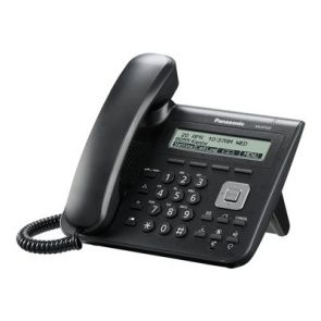 KX-UT123NE Standard Dual Port SIP Phonewith lage alphanumeric display. dual 10/100 ethernet ports
