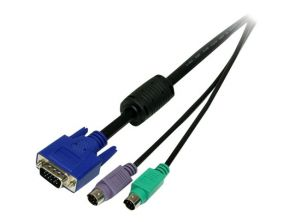 StarTech.com 3-in-1 Universal PS/2 KVM Cable - Toetsenbord / video / muis (TVM) kabel