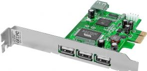 LINDY 51120 - 3 + 1 Port USB 2.0 Card