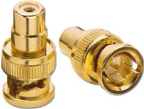 Lindy RCA Female / BNC Male Adapter - Videoadapter