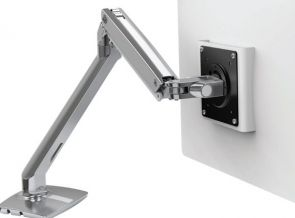 Ergotron MXV Desk Dual Monitor Arm with Top Mount C-Clamp - Bureaumontage voor Beeldscherm (instelbare arm)